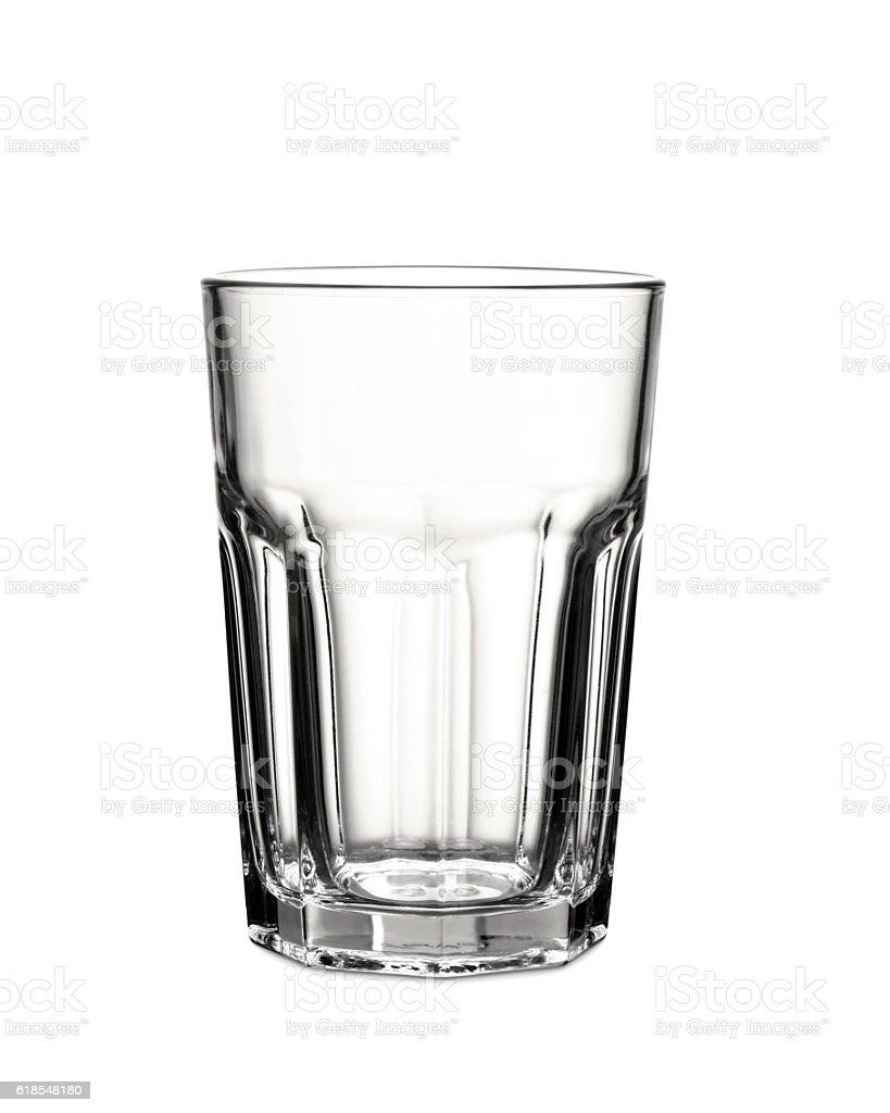 empty glass transparent glass on white background stock photo