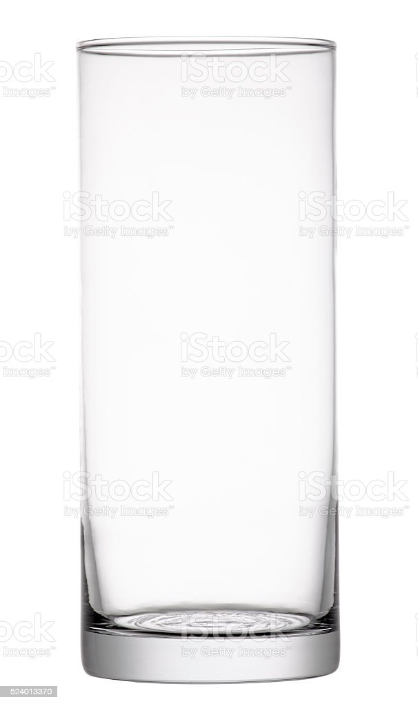 Empty glass vase. Clipping path stock photo