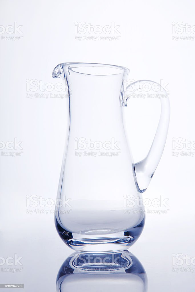 empty glasses jug royalty-free stock photo