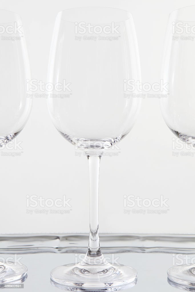 empty glasses royalty-free stock photo