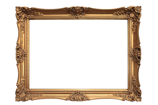 Gold plated wooden picture frame. Other images in: