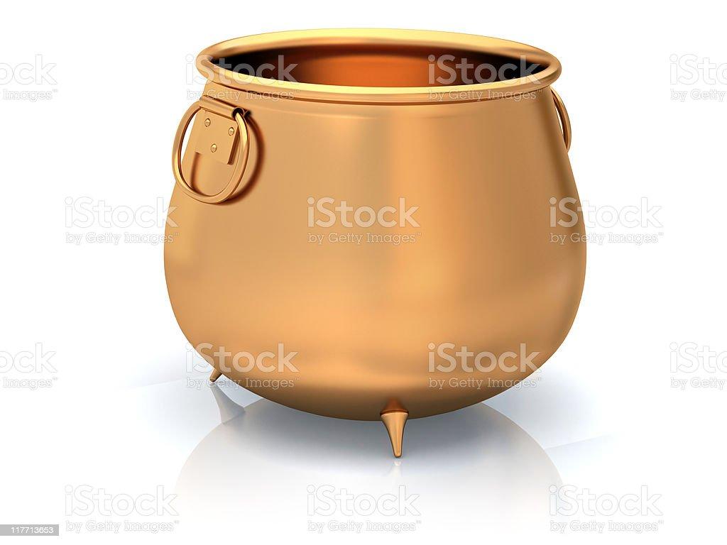 Empty Golden pot royalty-free stock photo