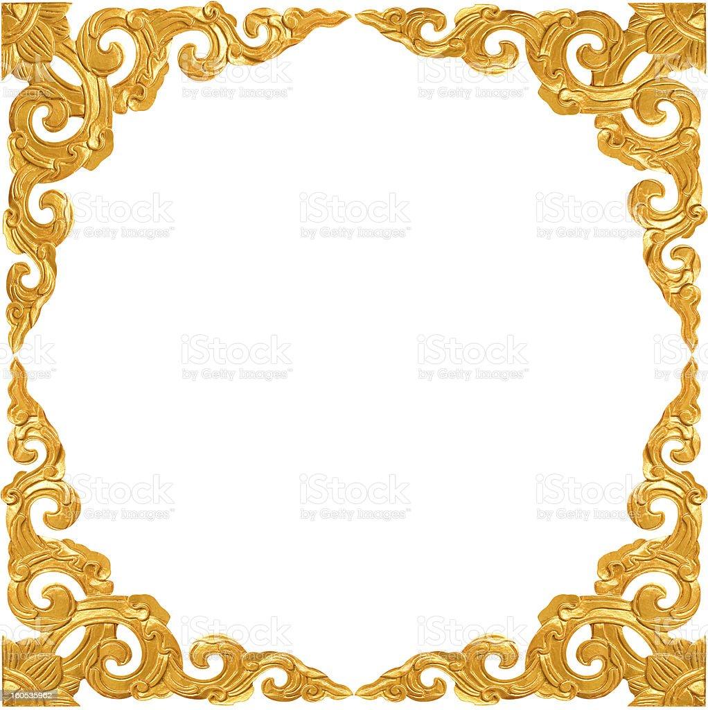 Vac o vintage marco dorado aislado sobre fondo blanco for Marcos de fotos dorados