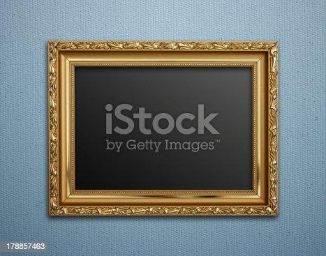 508897972 istock photo Empty golden vintage frame 178857463