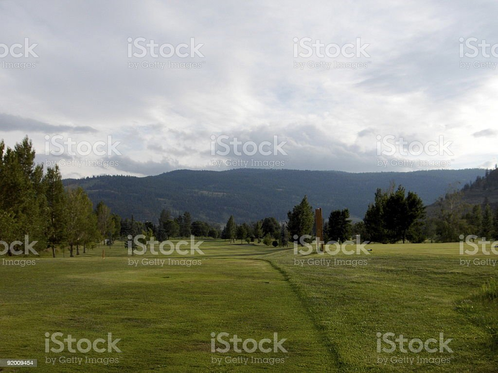 Empty Golf Course royalty-free stock photo