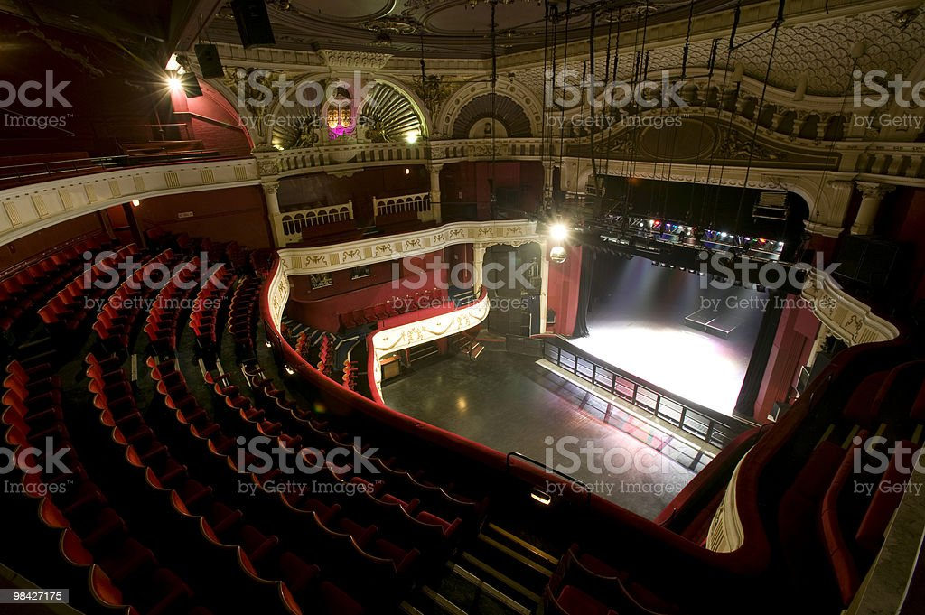 Empty Grand Theatre royalty-free stock photo