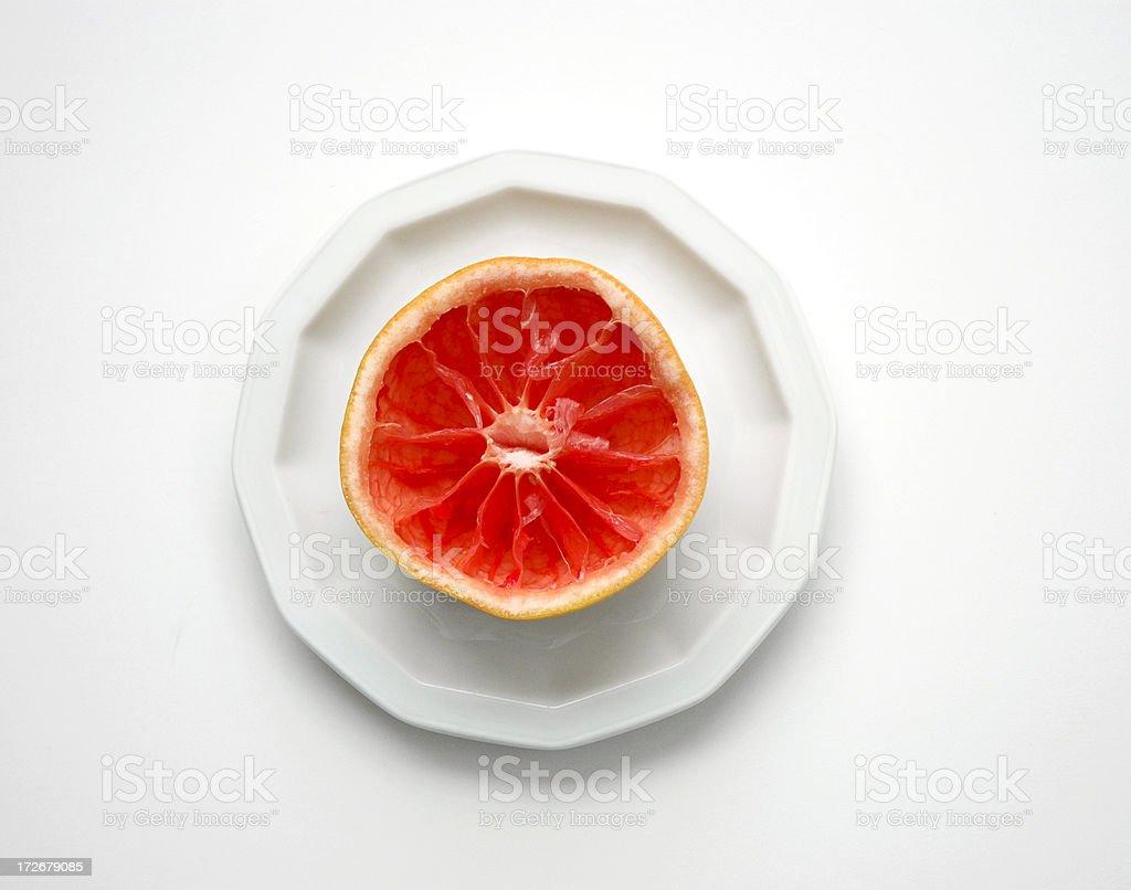Empty Grapefruit royalty-free stock photo