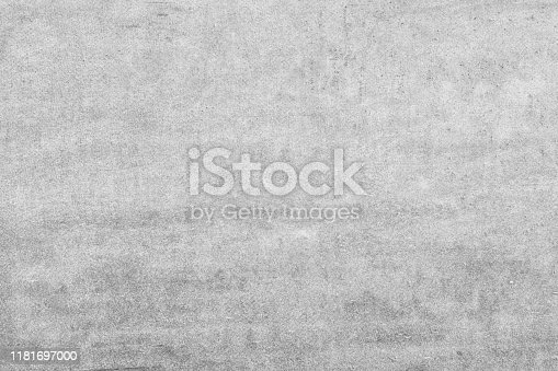 Empty gray background for sites and layouts. Photo with a smooth concrete wall texture.