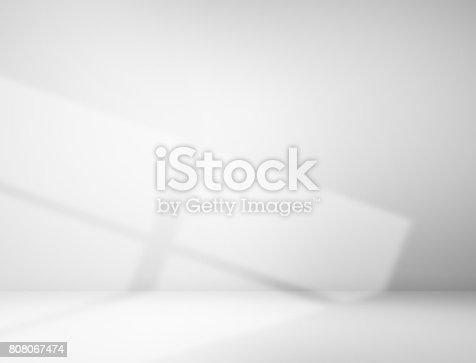 istock Empty gray room 808067474