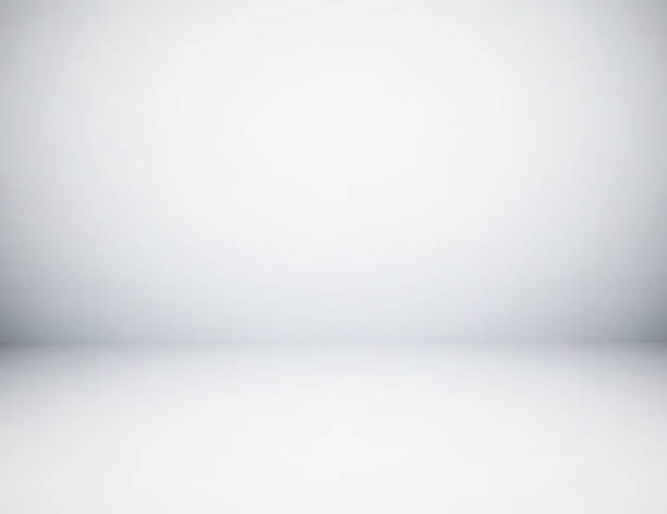 Empty gray studio room background, used as background for display your products stock photo