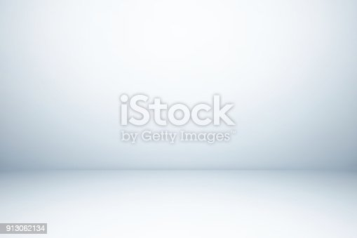 istock Empty gray studio room, used as background for display your products 913062134