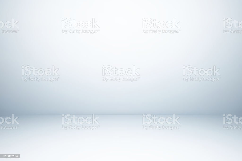 Empty gray studio room, used as background for display your products stock photo