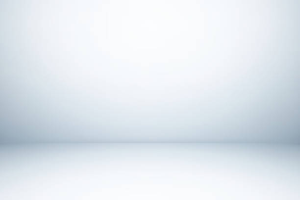 Empty gray studio room, used as background for display your products - foto stock