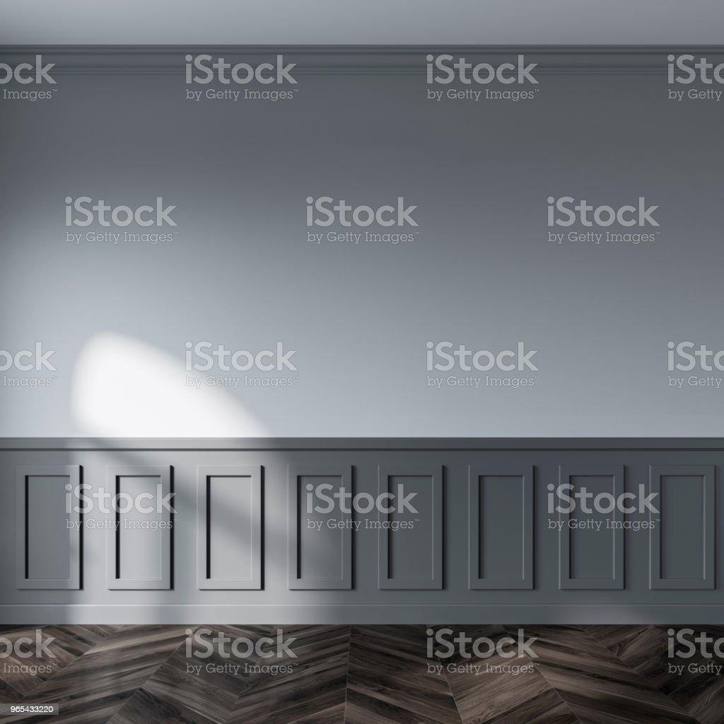 Chambre vide mur gris - Photo de Affaires libre de droits