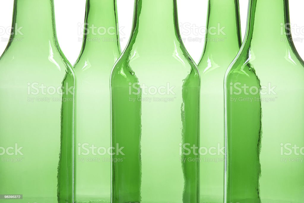 Empty green bottles royalty-free stock photo