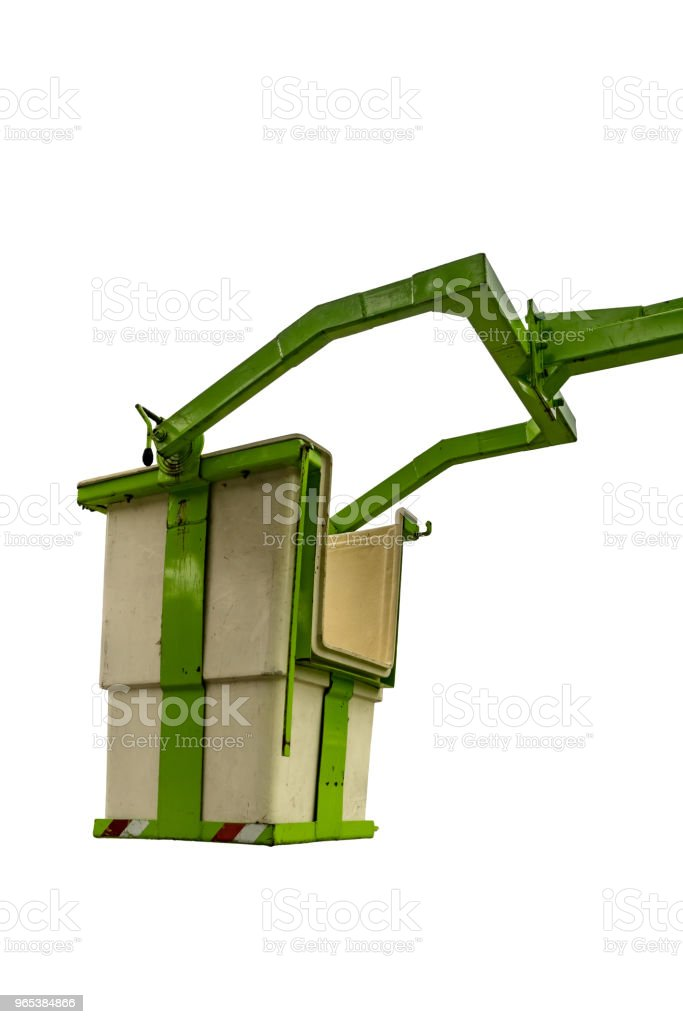 Empty green bucket crane zbiór zdjęć royalty-free