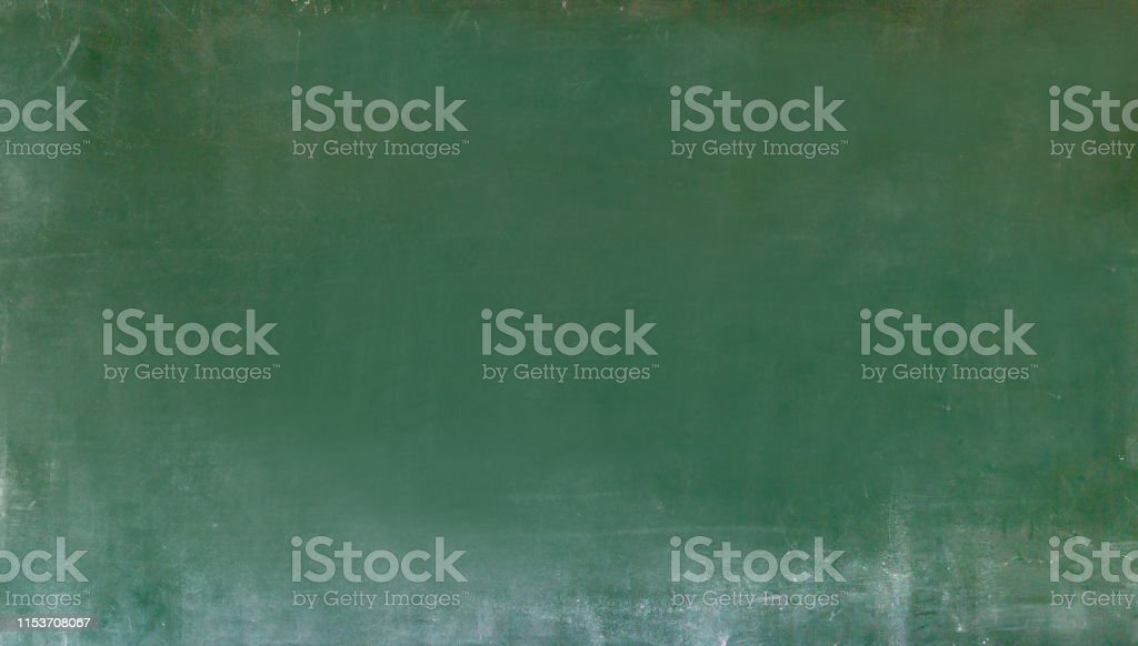 Empty green chalkboard texture hang on the white wall. double frame...