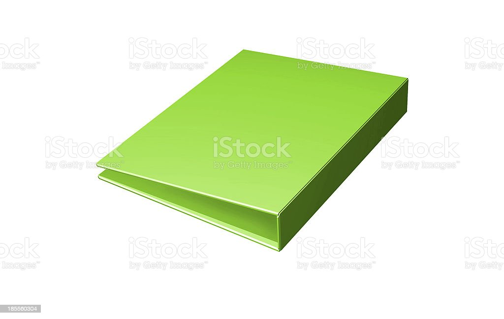Empty green folder icon isolated on white stock photo