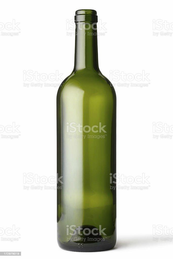Vacío frasco de vidrio verde - foto de stock