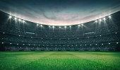 grassy field sport building 3D professional background illustration