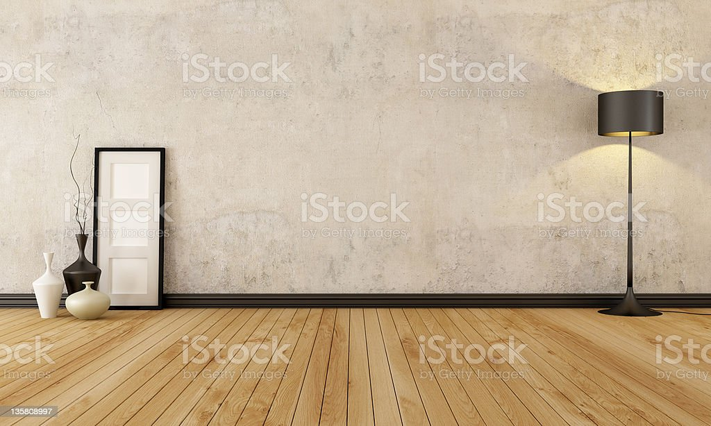 Empty grunge interior stock photo
