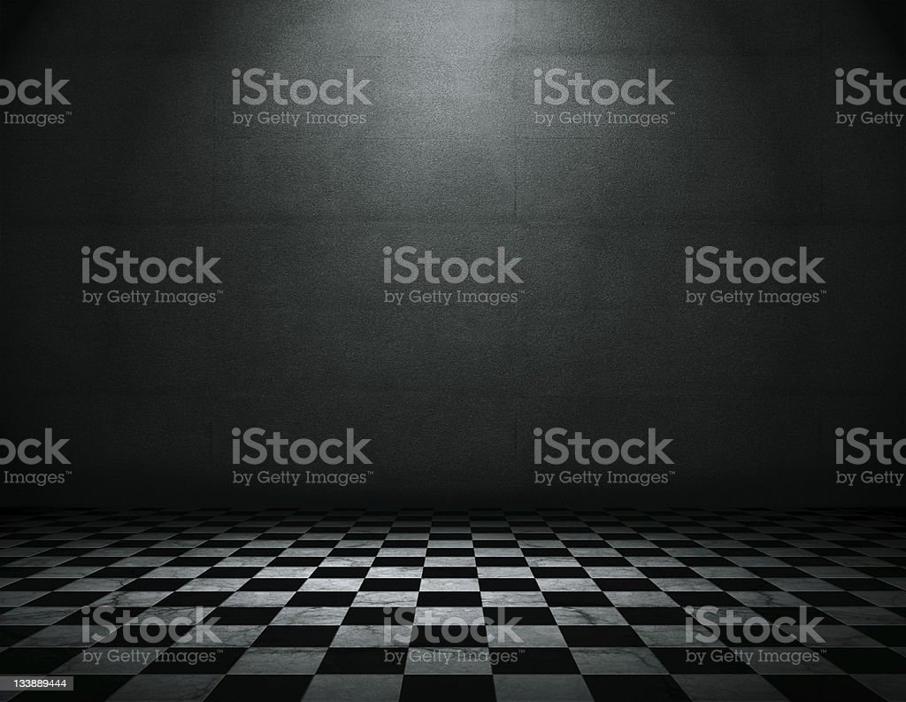 Empty grunge room stock photo