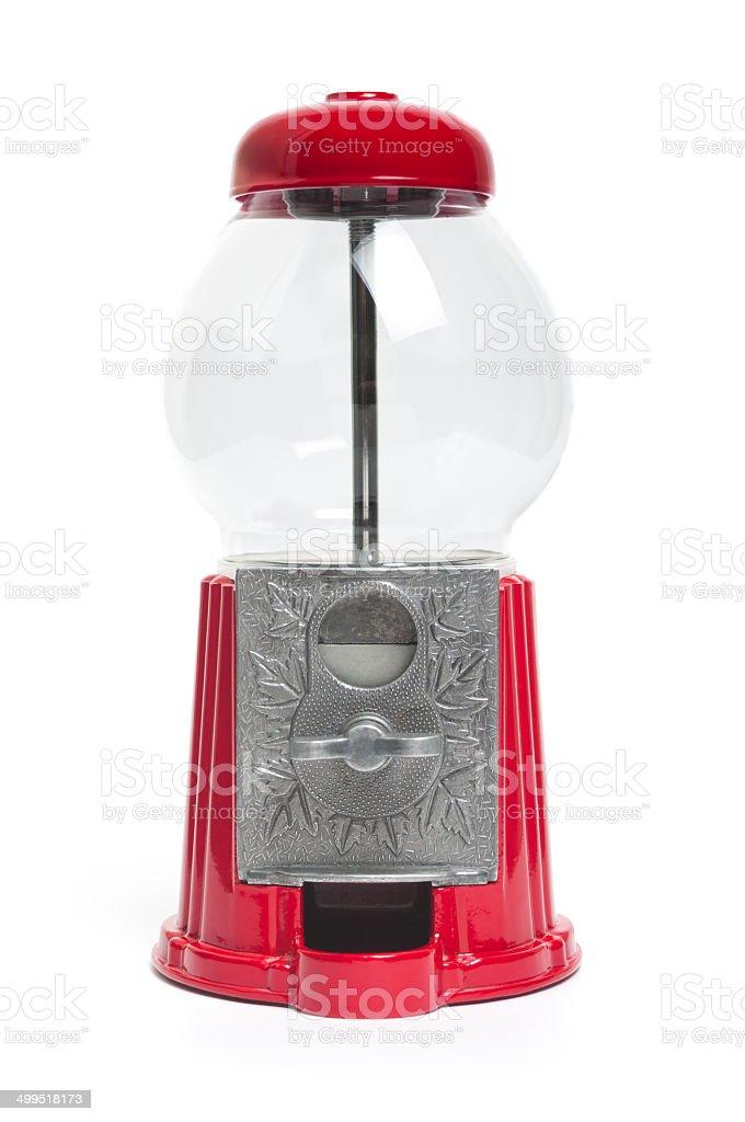 Empty gumball machine stock photo