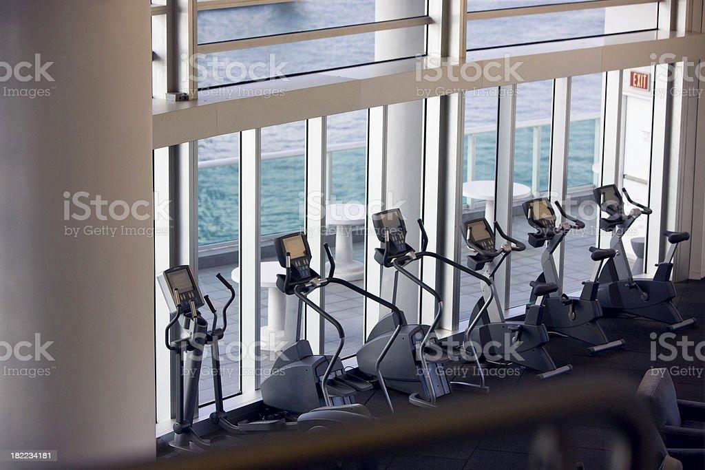 Empty gym royalty-free stock photo