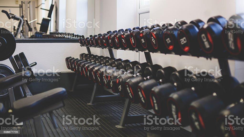 Empty Gym Space stock photo