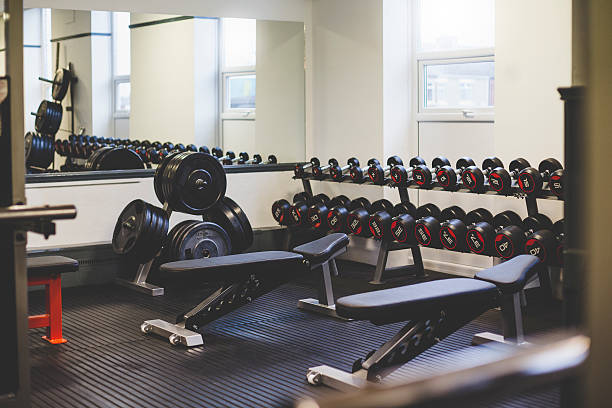 empty gym space - weight stock photos and pictures