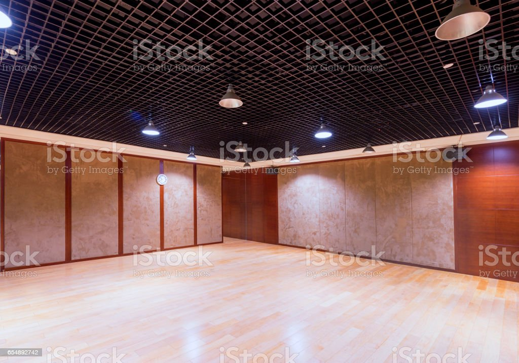 empty gymnasium interior stock photo
