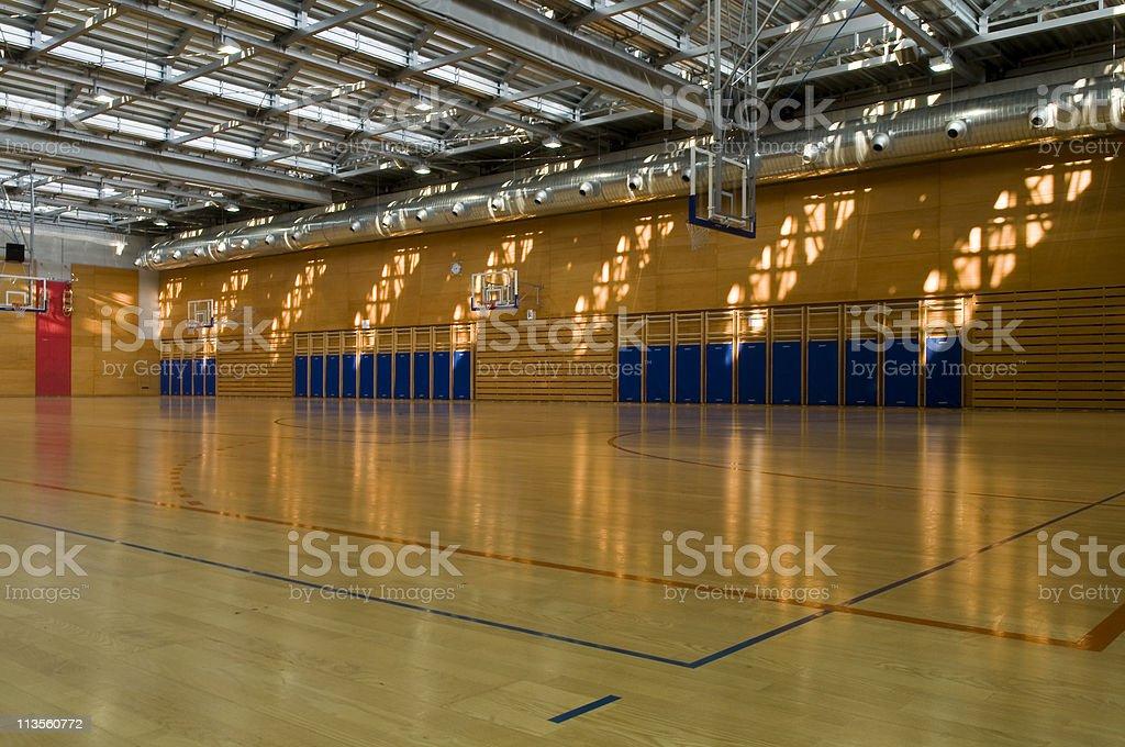 Empty Gymnasium Sport Center Hall royalty-free stock photo