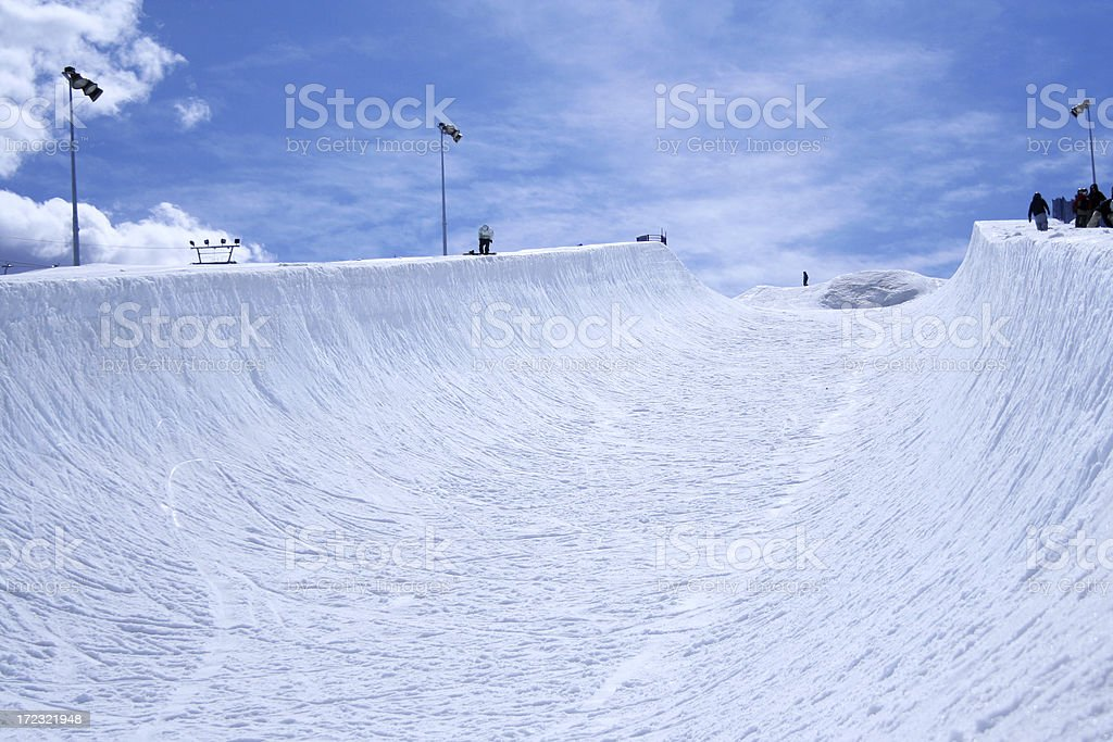 Empty Half-pipe stock photo