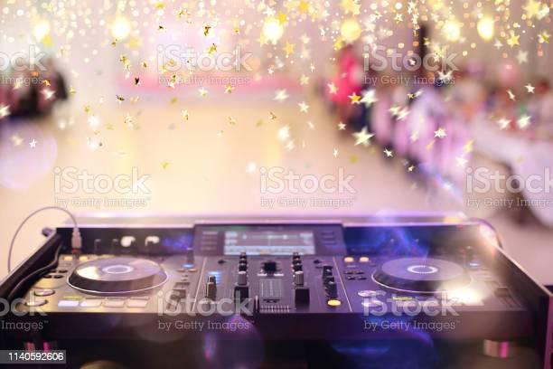 Empty hall during party or wedding celebration with dj mixer and for picture id1140592606?b=1&k=6&m=1140592606&s=612x612&h=e5nce pn0h4bteagv6lafgmczkumytvgziqqbkcovmy=