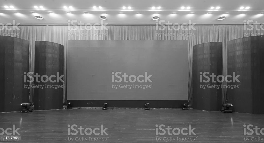 Empty hall of cinema royalty-free stock photo