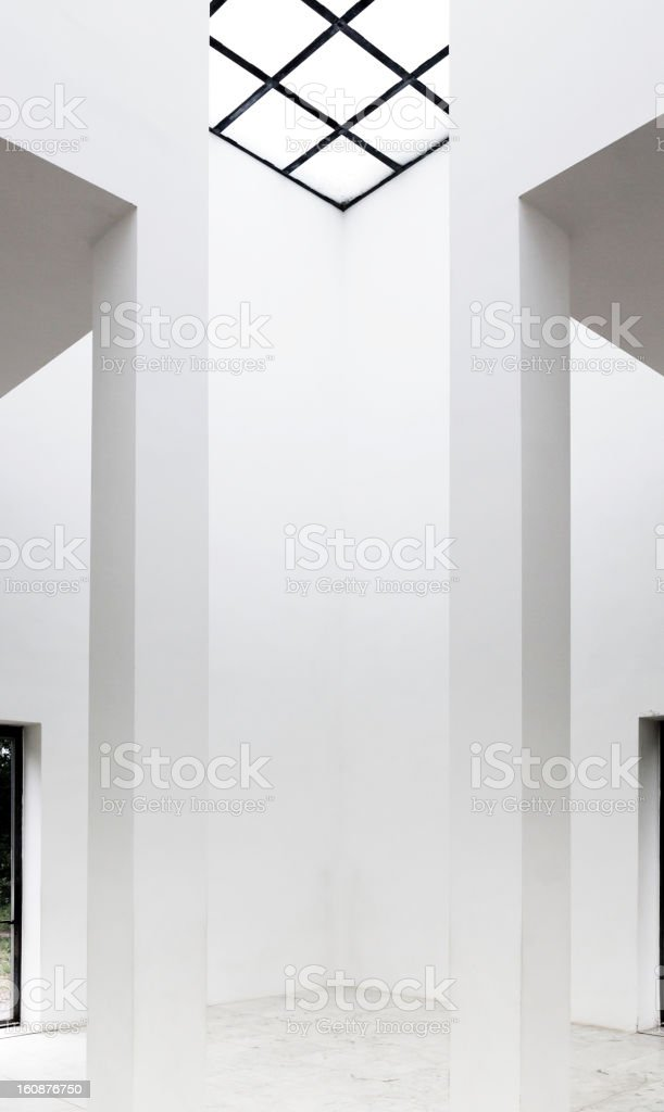 Empty hall with translucent ceiling royalty-free stock photo