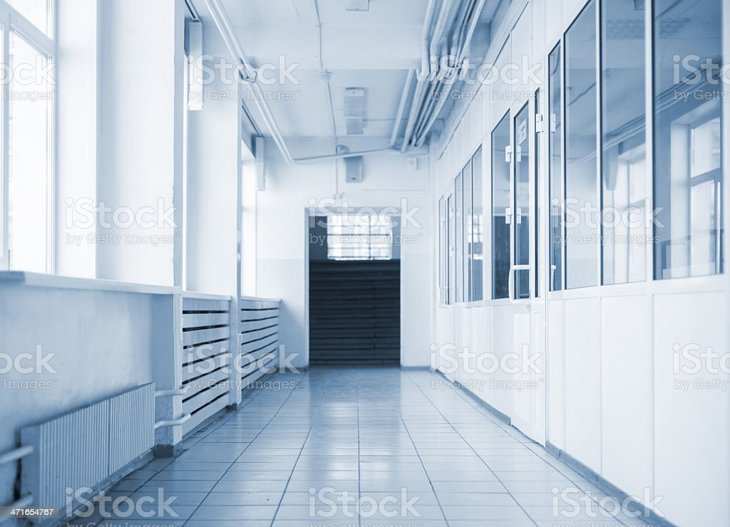 Empty hallway royalty-free stock photo