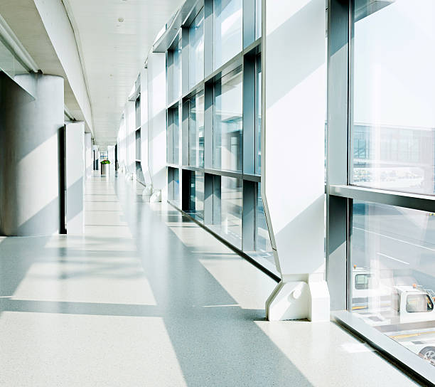 empty hallway - hospital building stock photos and pictures