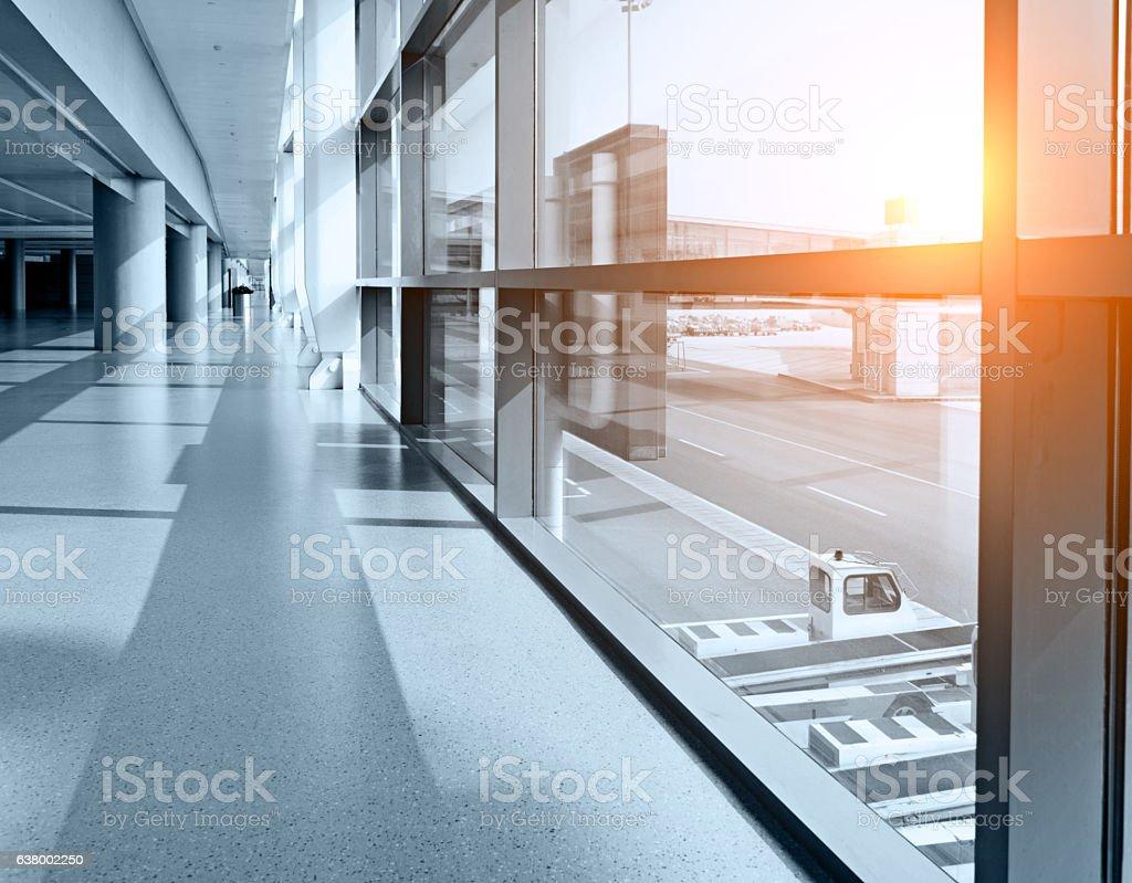 Empty hallway stock photo