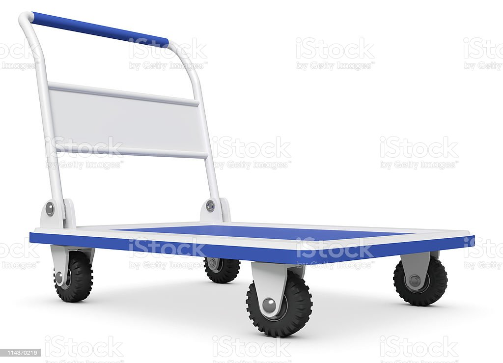 Empty Hand truck stock photo