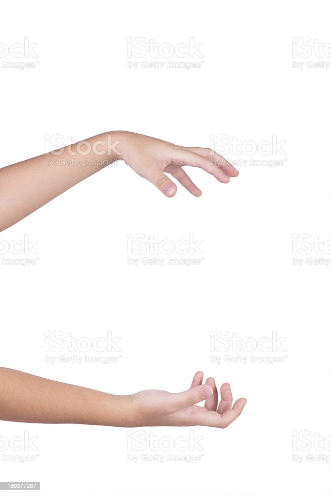 empty hands royalty-free stock photo