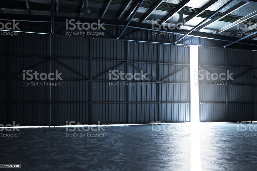 Empty Hanger stock photo