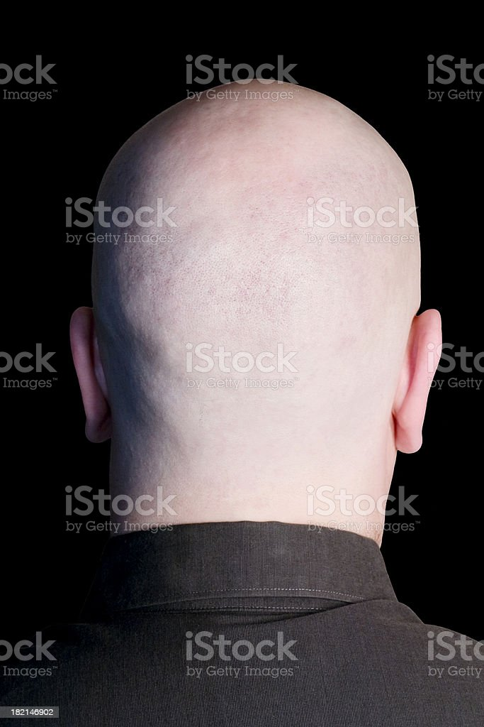 Empty Head on Black royalty-free stock photo