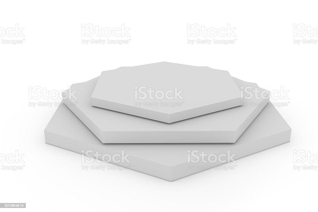 Empty hexagon podium royalty-free stock photo