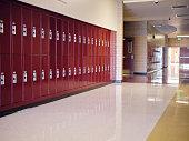istock Empty High School Hallway 1264705684