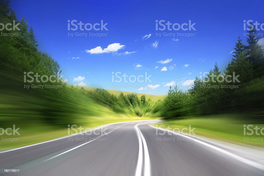 Empty Highway - abstract concept high speed royalty-free stock photo