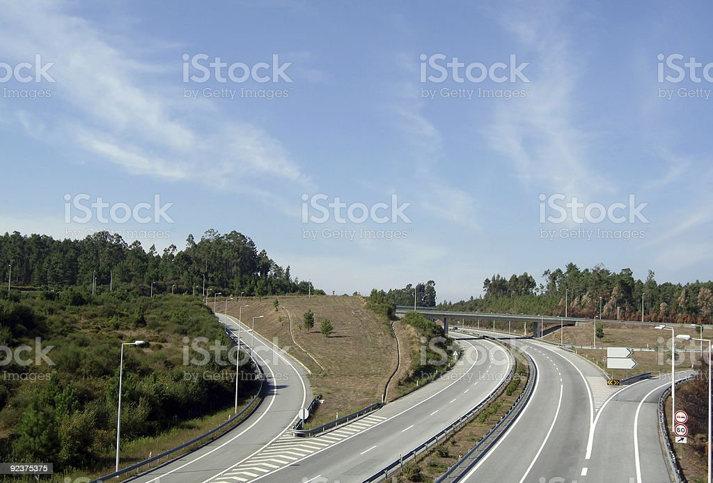 Empty highway perspective royalty-free stock photo