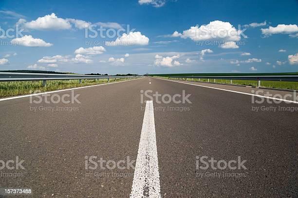 Empty highway  Asphalt Stock Photo