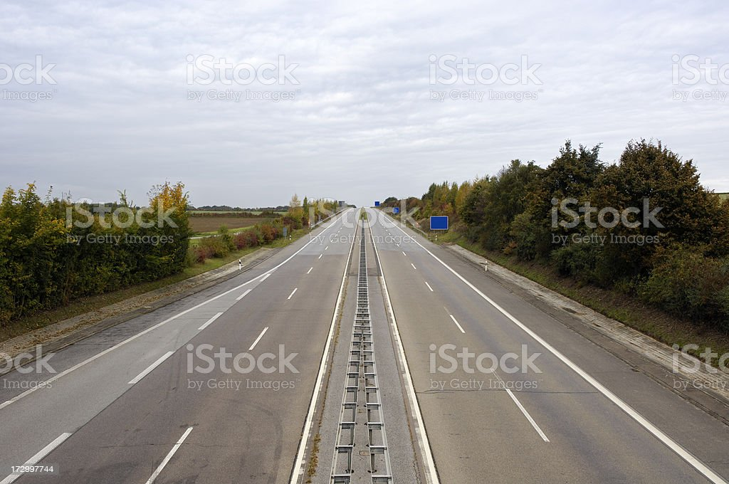 Empty highway stock photo
