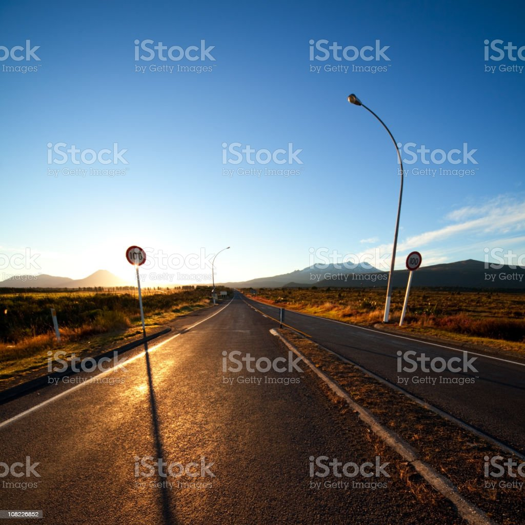Empty Highway Road royalty-free stock photo